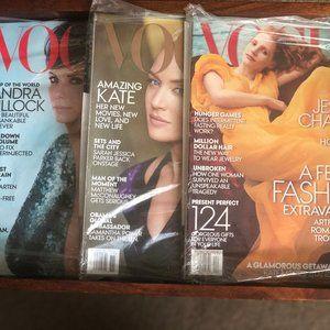 3 Unopened Vintage Vogue Magazines (2013)